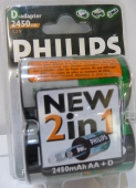 Philips baterie R20/2ks adapter D